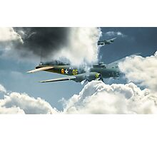 B17 in the clouds Photographic Print