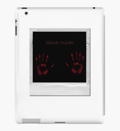 bloody murder iPad Case/Skin