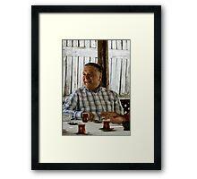 Çay Sefası Framed Print