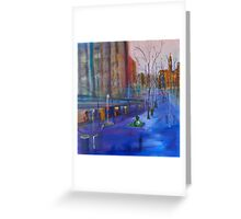 Swanston Street Melbourne VIC Australia - oil on canvas Greeting Card
