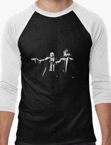 Beaten to a Pulp Fiction Men's Baseball ¾ T-Shirt