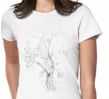 Pen Tree Womens Fitted T-Shirt