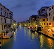 Venice Canal Romantic Night Photo by deanworld
