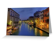 Venice Canal Romantic Night Photo Greeting Card