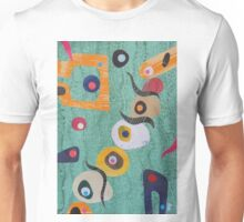 Pebbles And Shapes On Pale Green Unisex T-Shirt