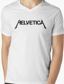 Rocking the Helvetica Mens V-Neck T-Shirt