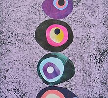 Column Of Circles On Lilac by bearoberts
