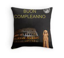 The Scream World Tour Rome Happy Birthday Italian Throw Pillow