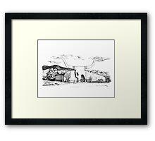 Longhorn Saloon, Arivaca, Arizona Framed Print