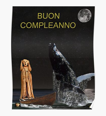 Scream with Humpback Whale Italian Poster