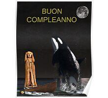 Scream with Orca Italian Poster