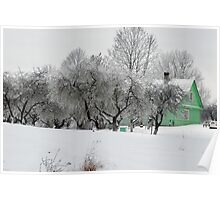 Green House in winter time Poster