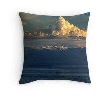 Cloud-Cap, Snow-Cap Throw Pillow