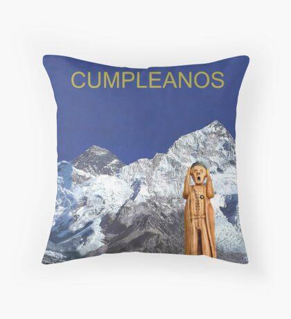 Everest The Scream World Tour Happy Birthday Spanish Throw Pillow
