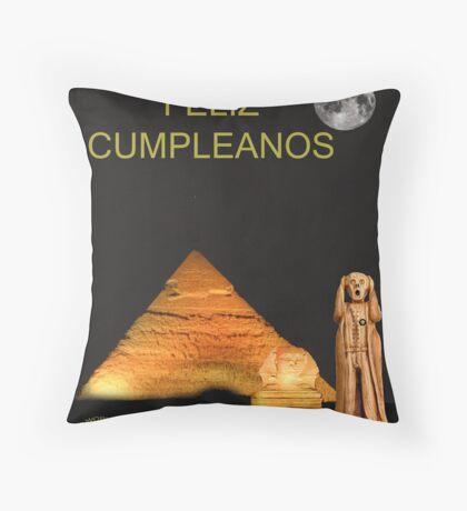 The Scream World Tour Egypt Happy Birthday Spanish Throw Pillow