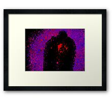 Watercolor Abstract Couple Framed Print