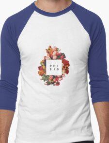 Floral Phi Sigma Sigma Men's Baseball ¾ T-Shirt