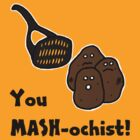 Retro-Style Fun Tees; Masochistic Kitchenware by Dead as a Dodo Limited