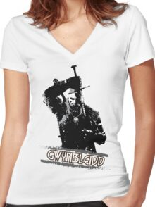 Gwynbleidd - the White Wolf Women's Fitted V-Neck T-Shirt