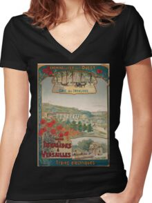 Gustave Fraipont Affiche Ouest Invalides Versailles Women's Fitted V-Neck T-Shirt
