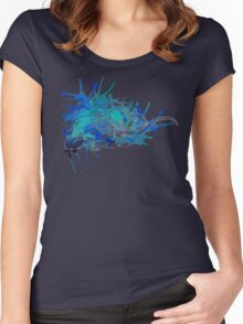 Merlin, Ocean Blue-Pale Lines Women's Fitted Scoop T-Shirt