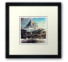 The Lonely Mountain Painting Framed Print