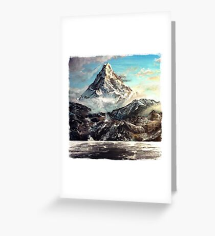 The Lonely Mountain Painting Greeting Card