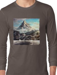 The Lonely Mountain Painting Long Sleeve T-Shirt