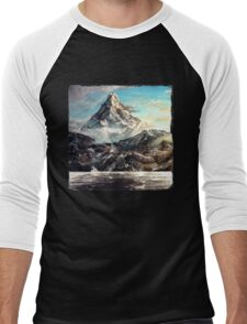 The Lonely Mountain Painting Men's Baseball ¾ T-Shirt
