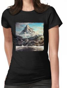 The Lonely Mountain Painting Womens Fitted T-Shirt