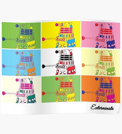 Dalek Warhol Poster