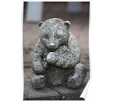 Teddy Bear Garden Ornament Poster