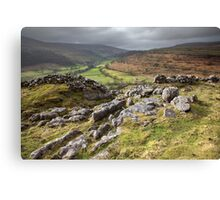 Hubberholme From Buckden Out Moor Canvas Print