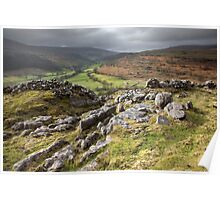 Hubberholme From Buckden Out Moor Poster