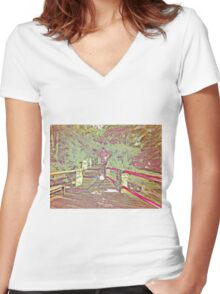 You're Late, So Move It! Women's Fitted V-Neck T-Shirt