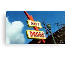 Save drugs Canvas Print