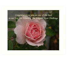 Elegant Rose Challenge Art Print