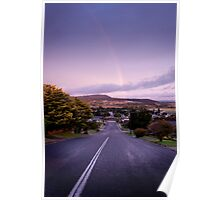 Rainbow at Goulburn, NSW Poster