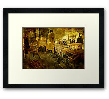 A Stitch in Time...a Long Time Ago Framed Print