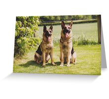 Max and Gemma Greeting Card