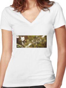 WellSummeryTee Women's Fitted V-Neck T-Shirt
