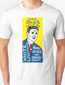 George Jones Pop Folk Art T-Shirt