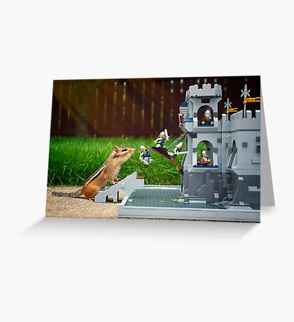 Storming The Castle Greeting Card
