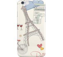 Paris symbols, postcard iPhone Case/Skin