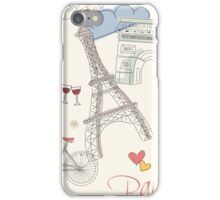 Paris symbols, postcard iPhone Case/Skin