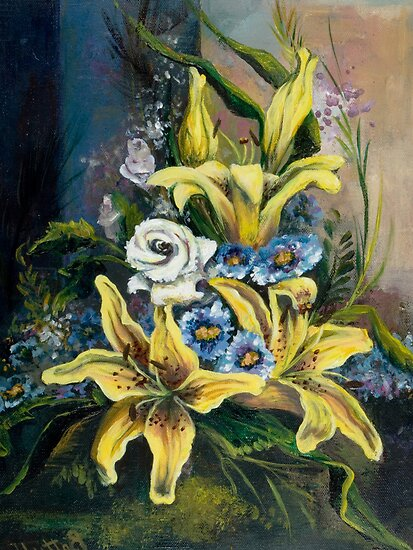 Yellow Lillies by Elisabeta Hermann