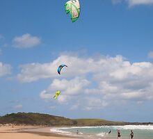 The three kites Yamba NSW Aust (3 grandsons) by Margaret Morgan (Watkins)