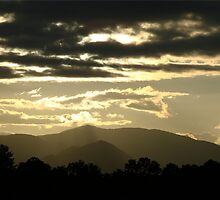 Dark Clouds with Silver Linings in Smoky Mountains by Jean Gregory  Evans