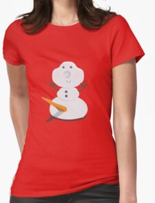 Funny Snowman Womens Fitted T-Shirt