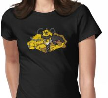 Gia Megaforce Yellow Womens Fitted T-Shirt